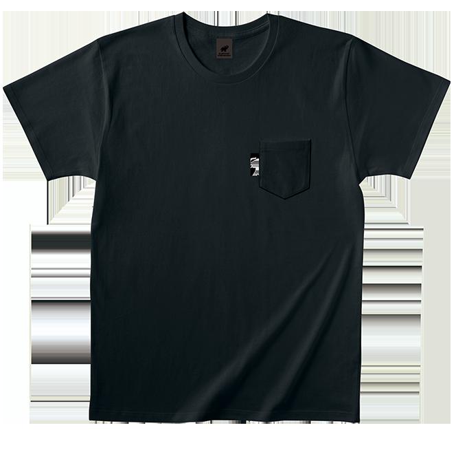 Monotone Elephant ポケットTシャツ