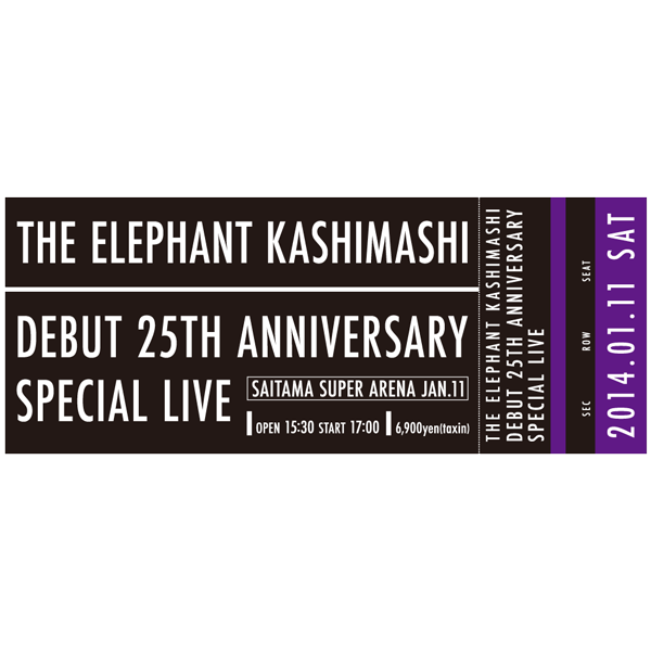 25th Anniversary SPECIAL LIVE チケット柄タオル